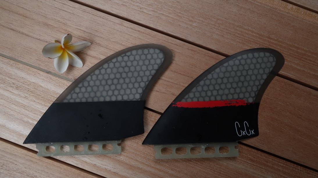 Russ Pope Faces 10 Inch Surfboard Fin Longboard Fin Captain Fin Co Clear